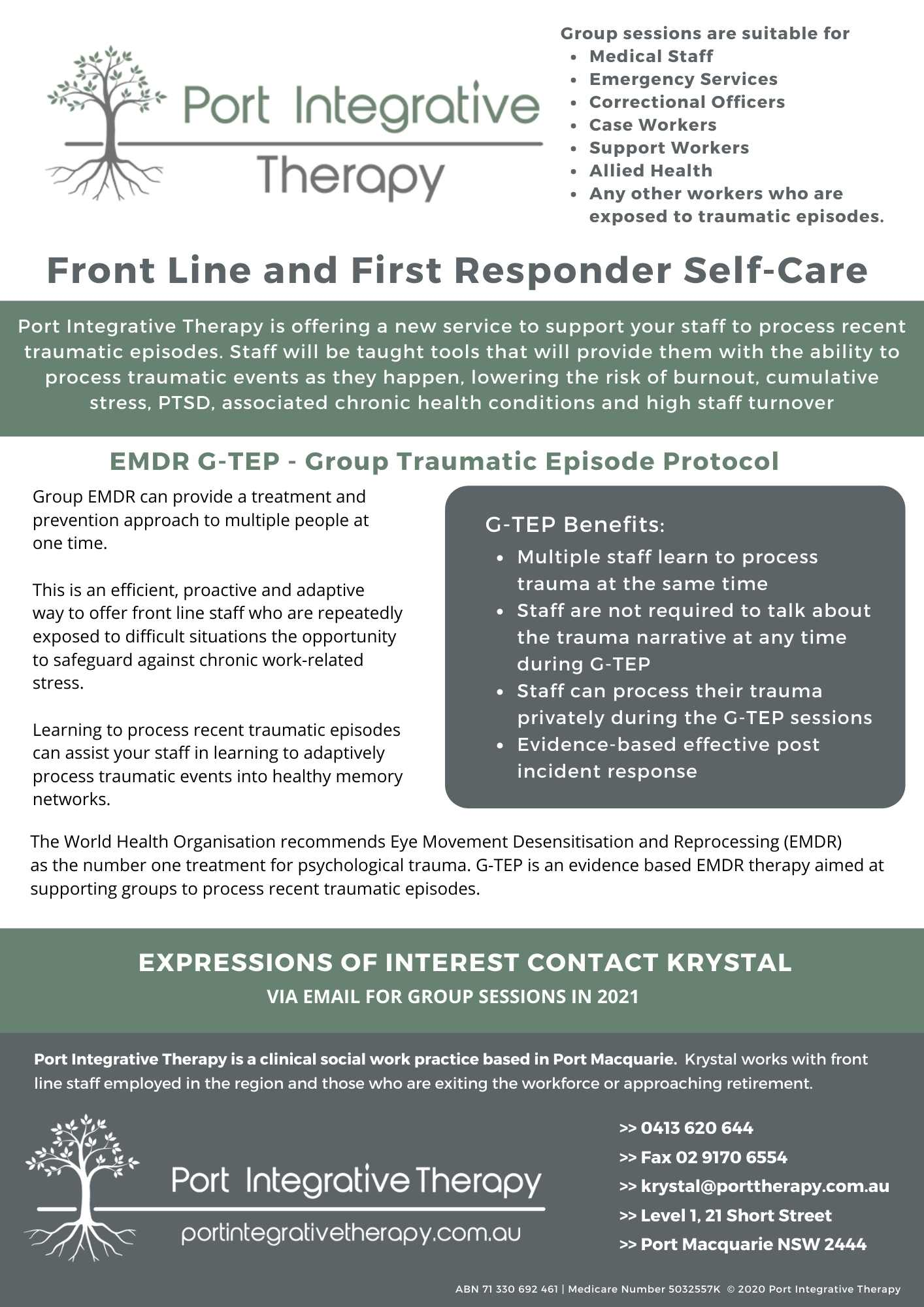 First Responders Self Care A4 Flyer